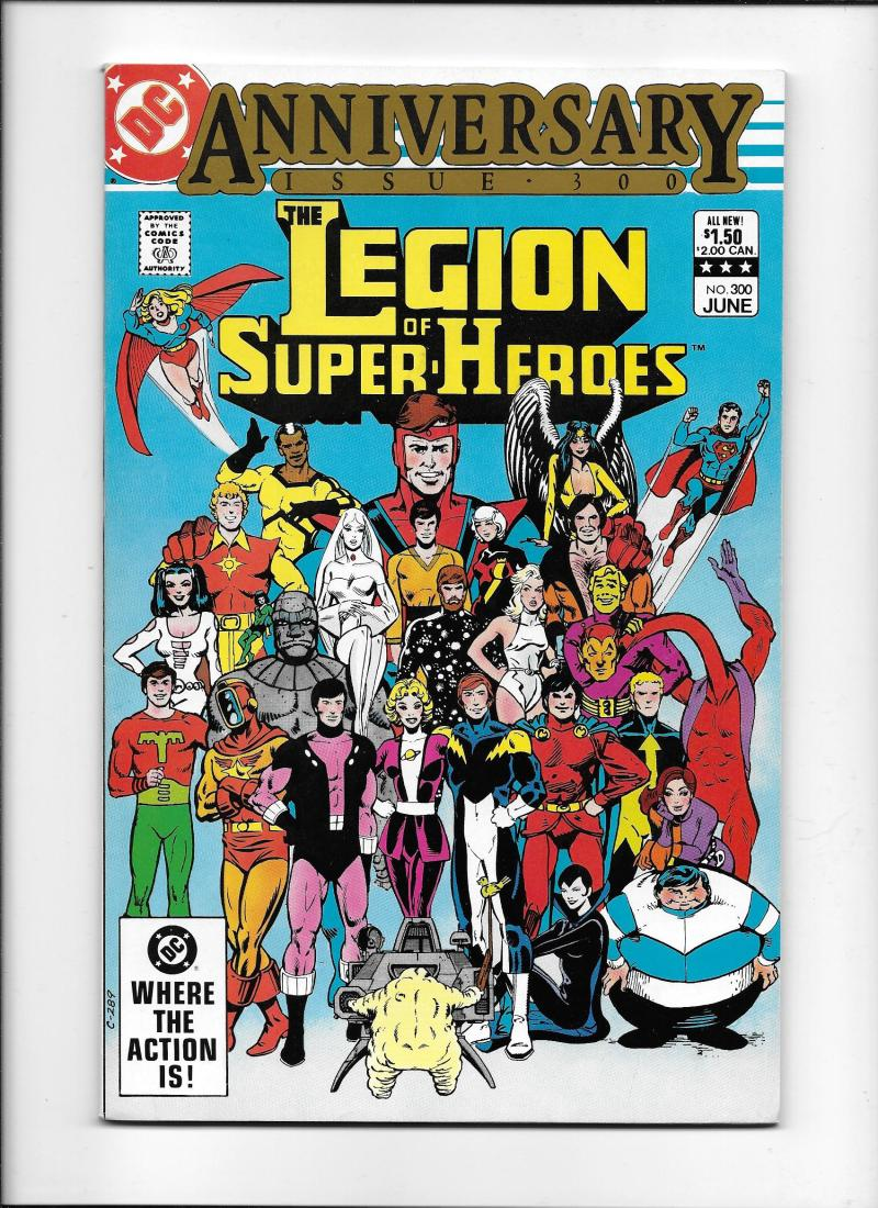 Legion Of Super Heroes 295 1983 Keith Giffen Larry: LEGION OF SUPER-HEROES #300 [1983 FN] ANNIVERSARY ISSUE