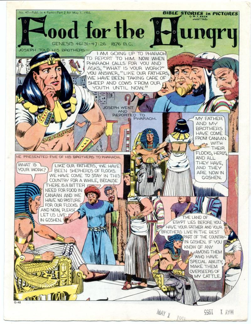 Details about Bible Stories in Pictures #47 Part 2 May 1 1955 Food for the  Hungry