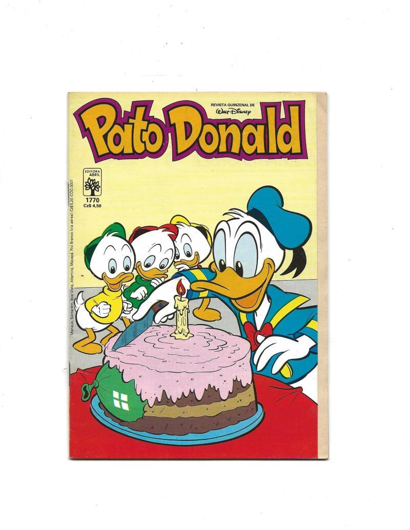 Strange Pato Donald 1770 1986 Brazilian Donald Duck Cake Surprise Cover Funny Birthday Cards Online Inifodamsfinfo
