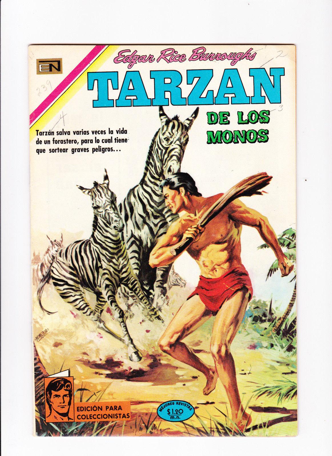 Details about Tarzan de los Monos No 239 :: 1970 :: :: Mexican Issue File  Copy! ::